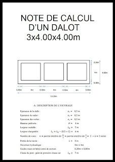 NOTE DE CALCUL D'UN DALOT 3x4.00x4.00m, dimensionnement dalot pdf, calcul dalot excel, cours dalot pdf ,note de calcul dalot xls, ferraillage dalot, cadre plan type d'un dalot ,ferraillage dalot dwg, dimensionnement hydraulique des dalots,