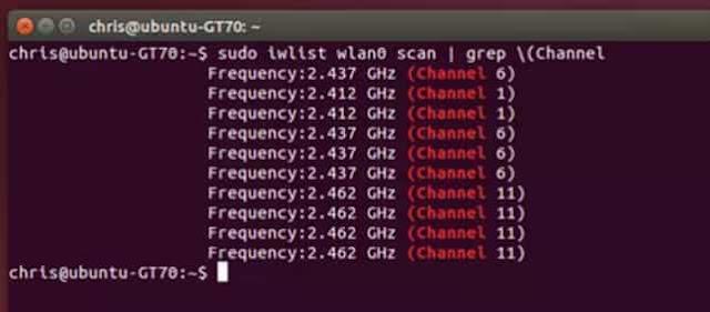cara mencari channel terbaik untuk sinyal wifi pada linux