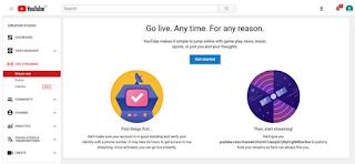 Cara Live Stream di YouTube dengan mudah