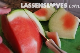 lassensloves.com, Lassen's, Lassens, watermelon+cutting