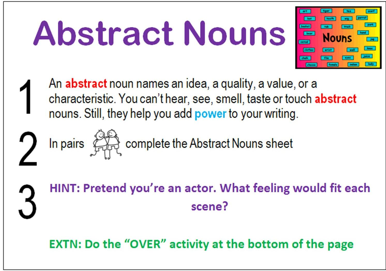 Abstract Noun Of See