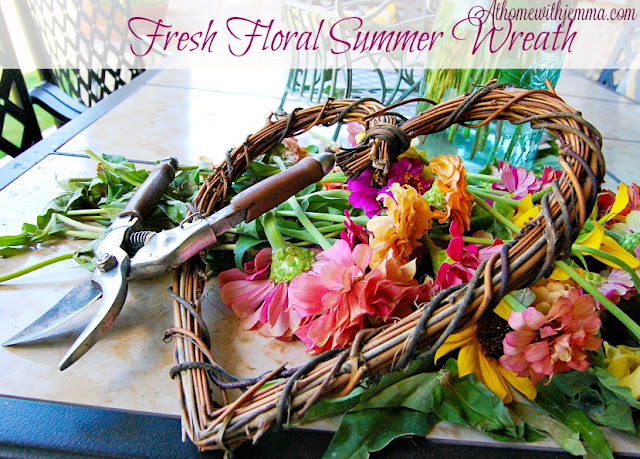 Jemma's Summer- Wreath-DIY