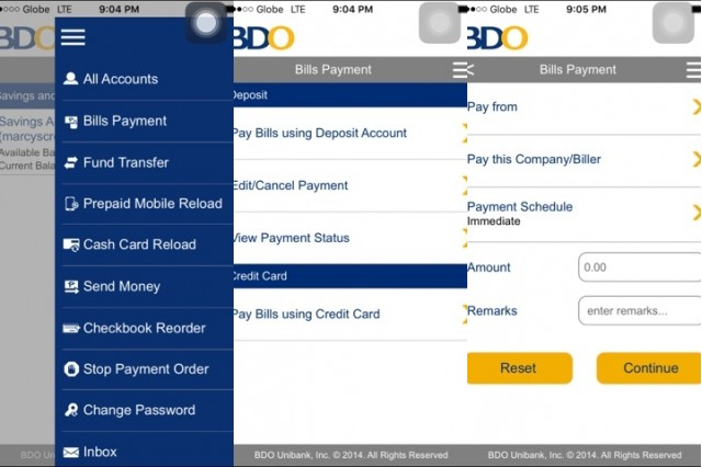 How to Pay Bills through the BDO Mobile App