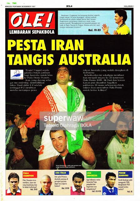 PIALA DUNIA 1998 PESTA IRAN TANGIS AUSTRALIA
