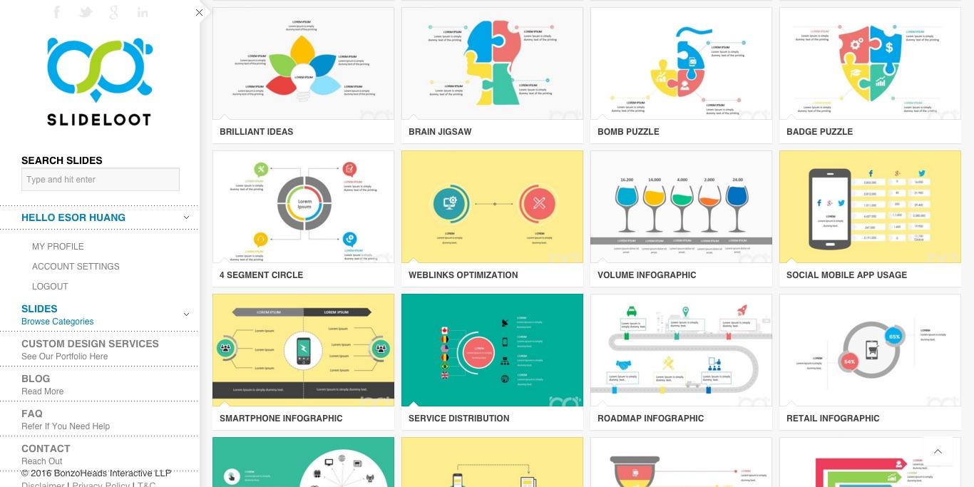 大肆行銷設計資訊 Dazz.co - (電腦玩物) 資訊圖表 Boxavox (Slideloot) 範本免費下載