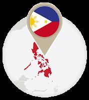 Filipino flag and map