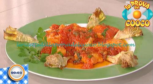 Baccalà in salsa e carciofi fritti ricetta Salvatori da Prova del Cuoco