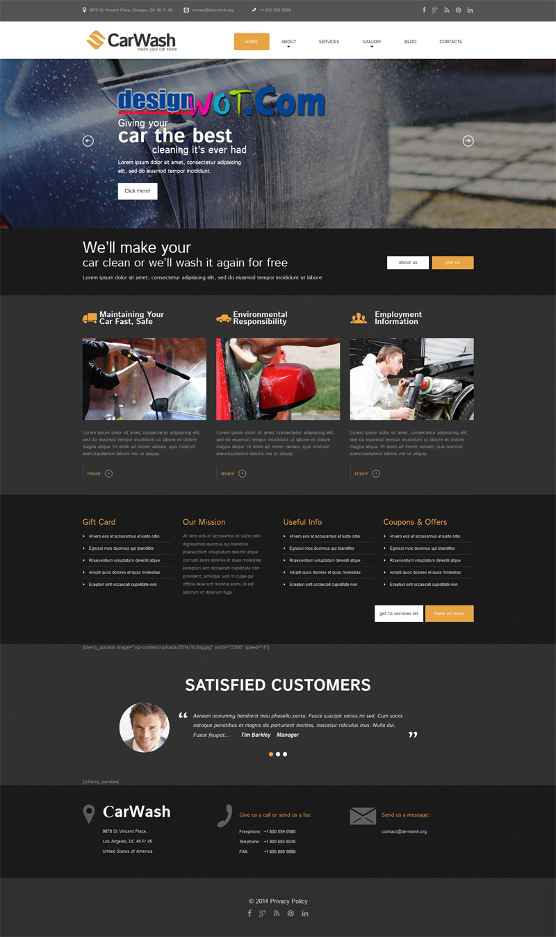 CarWash Responsive WordPress Theme