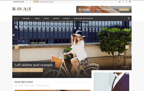 Blogari Blogger Template