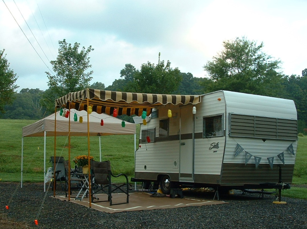 Vintage Awnings Riverbend Vintage Trailer Rally August