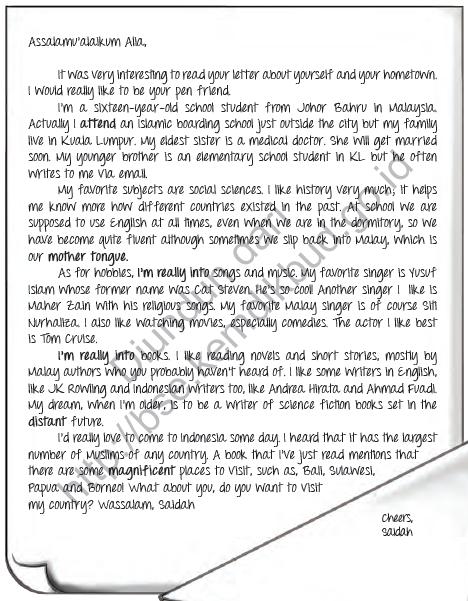 Materi dan Contoh Personal Letter Kelas XI