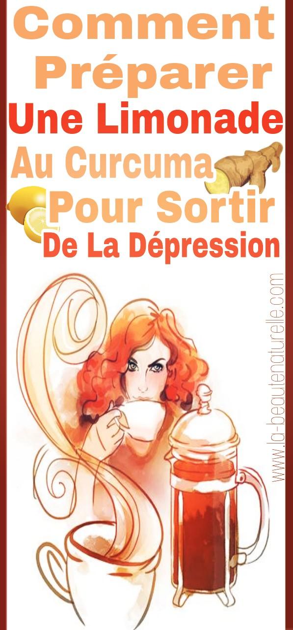 Comment préparer une limonade au curcuma pour sortir de la dépression