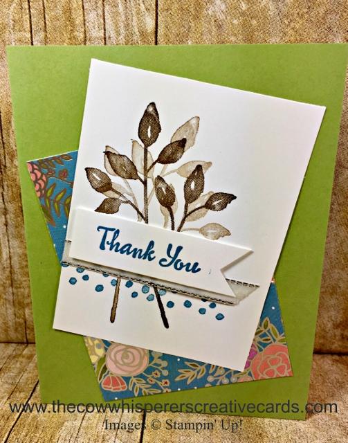 Card, Thank You, Petal Palette, Clean & Simple