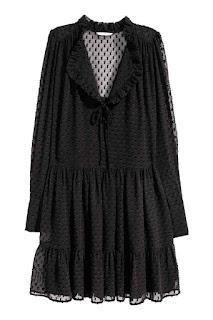 H&M szyfonowa sukienka w stylu retro co kupić na wyprzedaży H&M okazje blog modowy