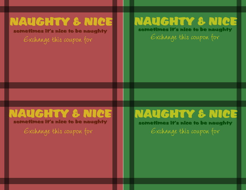 12 Days til Christmas Naughty or Nice Love Coupons While He Was