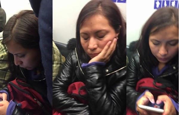 Denuncian a bella mujer que se dedica a picar con agujas en el Metro.
