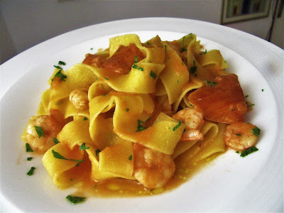 Extra kozice s tjestenonom / Delicious shrimps with pasta