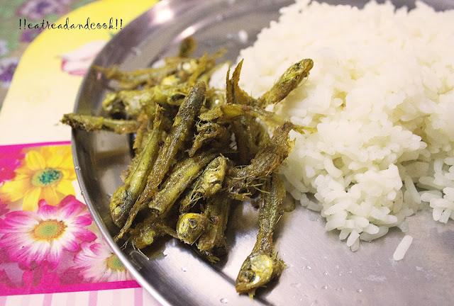 Mourala Maach Bhaja mola fish fry recipe