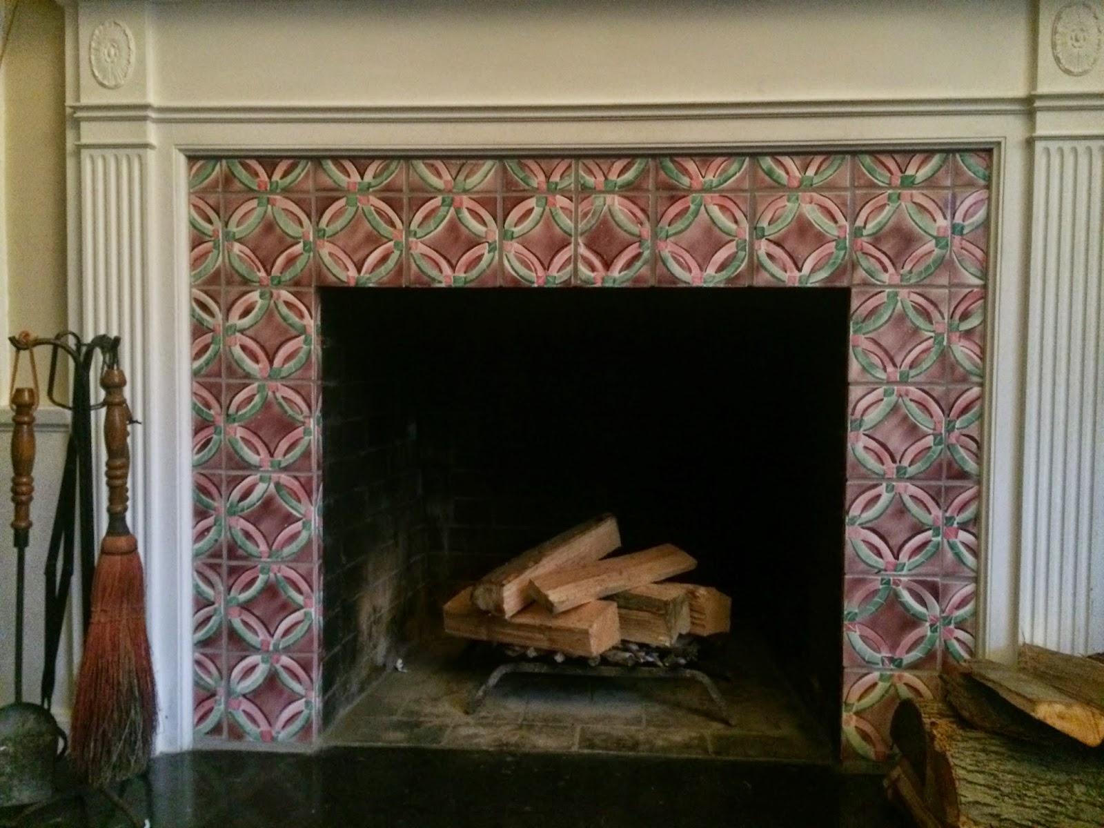 Finest Amish Quilt Pattern Ceramic Tile Fireplace Surround Jn56