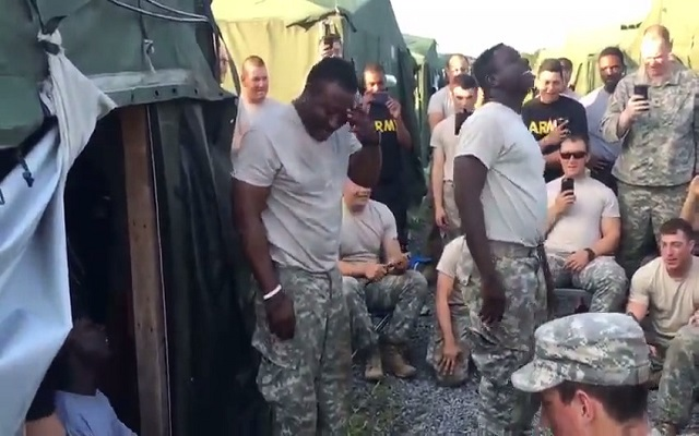 Ghanaians invade US Army with their attractive 'jamma' culture [Video]