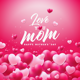 love you mom flying love herats happy mothers day greetings