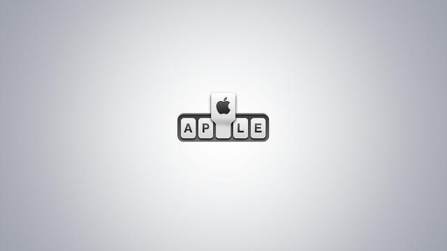 Logo Apple Plus Pomme Gris - Fond d'écran en Full HD