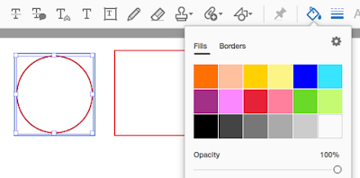"How to Make a PDF Drawing markup with ""No Fill"""