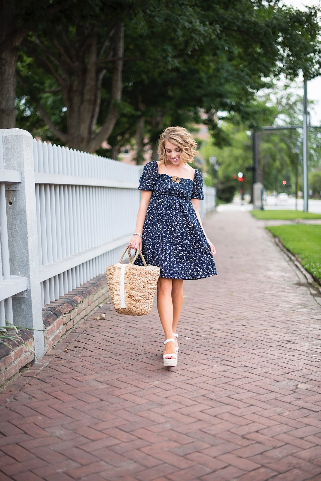 Little Navy Dress - Click through to see more on Something Delightful Blog