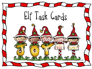 elf task card freebie