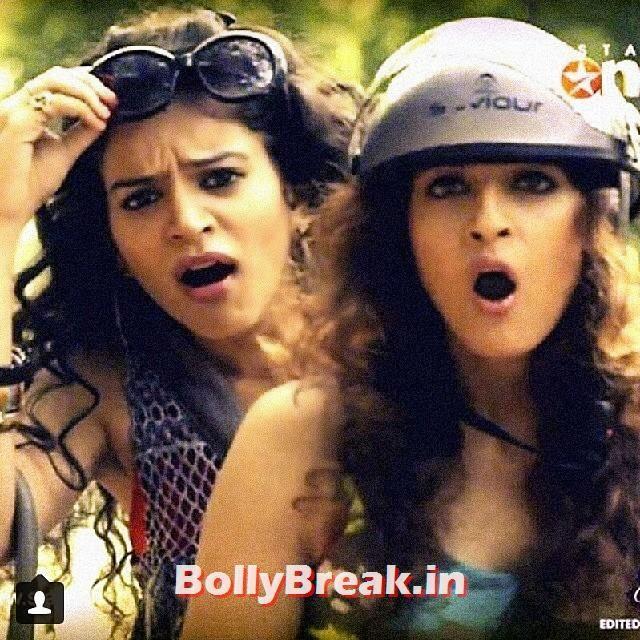 this was very funny lol i miss it i want it back sukirti kandpal, Priya Wal,  Ky Ye,, Sukirti Kandpal Hot Pics - Bigg Boss 8 Contestant