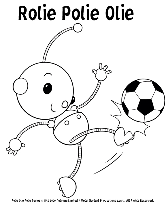 Rollie pollie ollie coloring pages for Rolie polie olie coloring pages