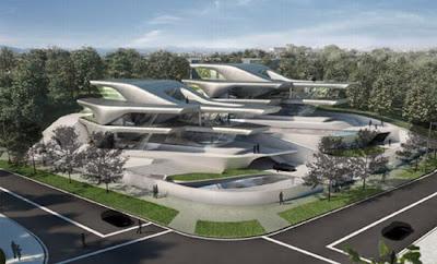Arquitectura futurista  de lujo