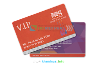 In thẻ tích điểm để giảm giá ưu đãi cho khách hàng vip