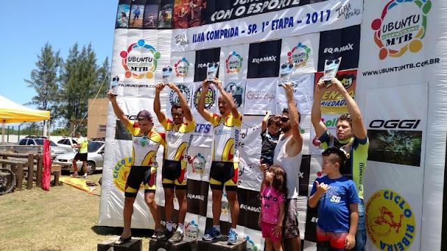 Equipe de ciclismo registrense conquista grande resultado na 1ª Etapa do Circuito Ubuntu