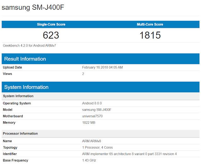 Muncul Samsung Galaxy J4 dengan RAM 2GB dan Android Oreo