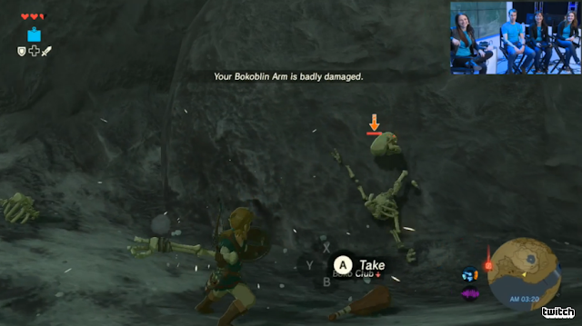 The Legend of Zelda: Breath of the Wild Bokoblin arm skeleton bone weapon