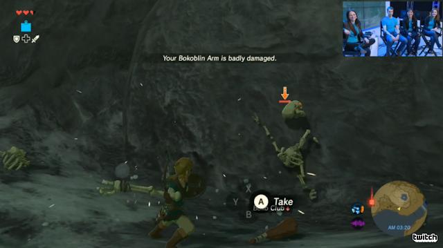 The Legend of Zelda: Breath of the Wild Bokoblin arm skeleton bone weapon