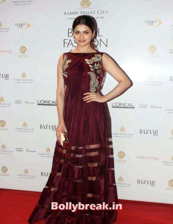 Prachi Desai, Celebs at India Bridal Fashion Week 2013 Day-6