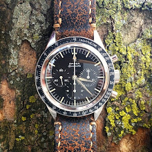 Bill great looking Vingate Omega Speedmaster on Super Distress leather