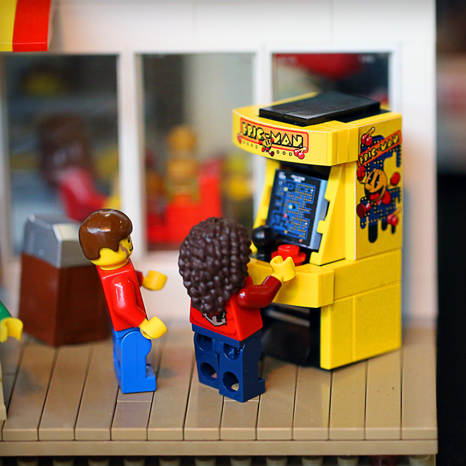 Arcade Game Room: Tiles Or Studs: LEGO Arcade Game Machines