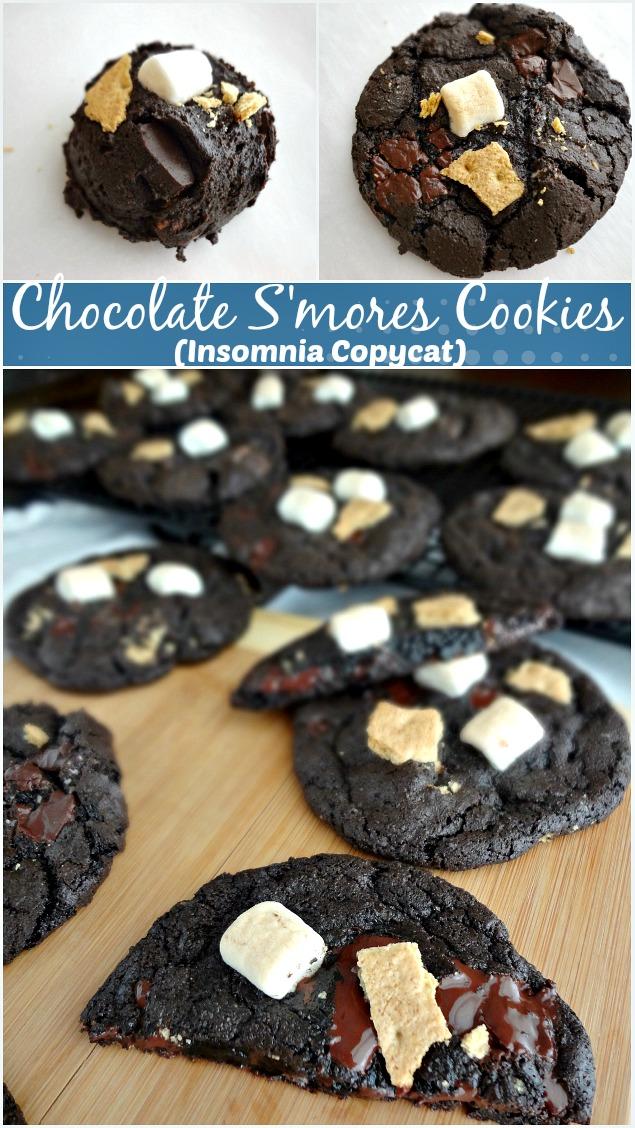 Chocolate S'mores Cookies {Insomnia Copycat}