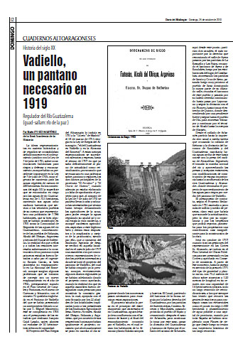 Fañanás: Vadiello, un pantano necesario en 1919