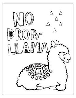 Baby Llama Coloring Sheets With Name