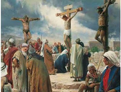 Imagen de la crucificación de Jesús o Jesus en la cruz
