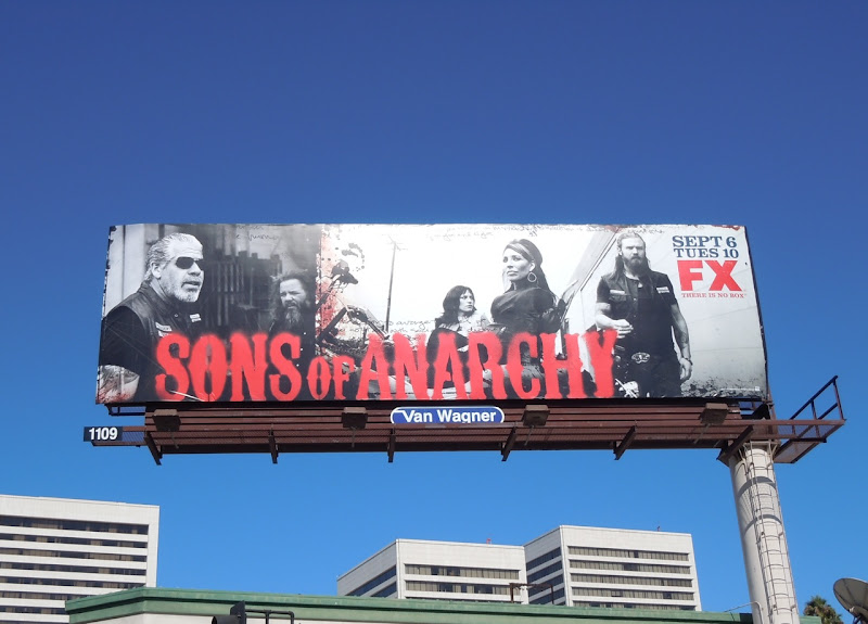 Sons of Anarchy season 4 TV billboard