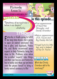 My Little Pony Fluttershy Leans In Series 5 Trading Card