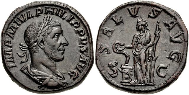 Sestercio del emperador romano Filipo el Árabe