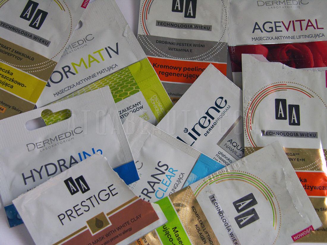 Pielęgnacja :: Saszetkowy maraton maseczkowy <br>– recenzje (AA, Dax Cosmetics, Dermedic, Lirene)