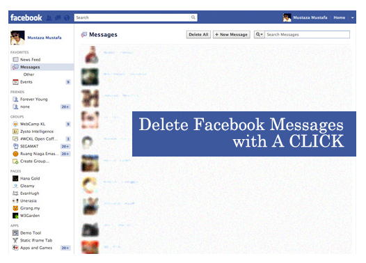 How to erase all facebook messages kobe monitor how to erase all facebook messages ccuart Choice Image