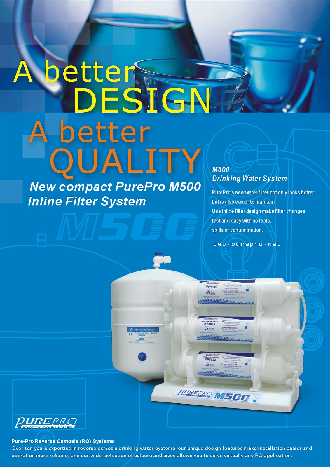 PurePro® M500 Reverse Osmosis Water Filtration System